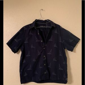Vintage Nautica short sleeve button down shirt